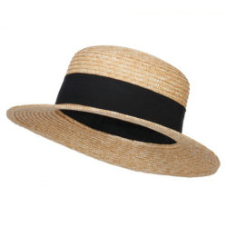 Fashion Factory Upf 50+ Wheat Straw Boater Paper Summer Hat d2db08c303ee