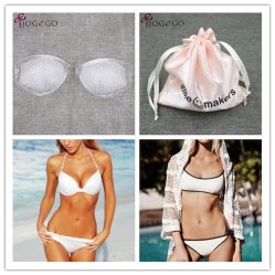 8eac60e168d 2018 New Design Honeycomb -Shaped Breast Uplift Enhancer Bikini Breathable  Push up Adhesive Silicone Bra