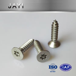 """Security Screw 4X20mm (No. 8 X 3/4"""") Pin Trox C/Sunk - A2 Stainless, Anti-Theft Screw"""