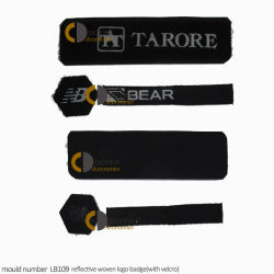 Tent Painting Company Logos Reflective Patch Fabric Label for Sportswear