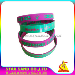 Custom Wholesale Notoxic Eco-Friendly Coloring Injection Rubber Silicone Bracelet