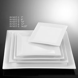 Porcelain Square Flat Plate for Hotel