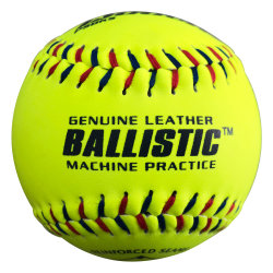 "12"" Yellow Leather Fastpitch Softball"