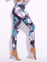 Colorful New Stitching Breathable Yoga Pants of Sportswear
