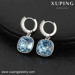 Fashion Square Shape Crystals From Swarovski Gold Rhodium Plated Jewelry Earrings