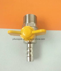 Pipe Connection Brass Gas Valve with Butterfly Handle
