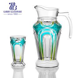 d38ef703159 China Manufacture 7PCS Color Glass Jug Set with Polyfoam Pack (GB12057FM-P3)