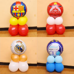 School Bar KTV Sports Playground Decorated Football Column Decorated Background Balloon - World Cup Decoration