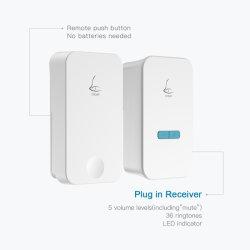 Linptech Linbell G4 High-End Eco Self-Power Cordless Battery-Less Small Smart Home Wireless Doorbell