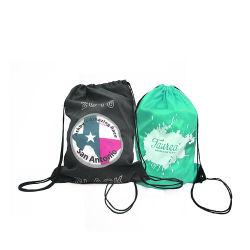 Factory Custom Logo Sports Backpack 210d Polyester Customised Drawstring Bag