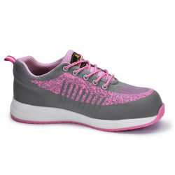 Breathable Comfortable Fashion Women Work Sports Safety Shoes