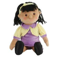 Custom Baby Girl Hand Made Sitting Stuffed Plush Rag Doll Manufacturing Supplier