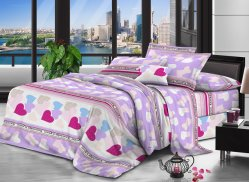 Polyester Bed Sheet Fabric Brushed Bedding Fabric, Home Bedsheets Fabric