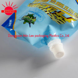 Factory Wholesale Customized Stand up Gusset Spout Food Pouch for Jelly Juice