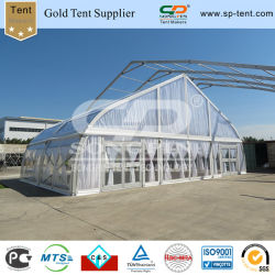 Clear Span Aluminum Frame Curved Tents with Transparent Cover for Wedding Event