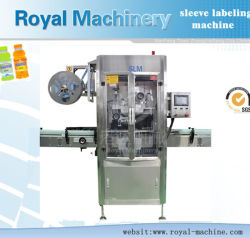 Auto Contract Sports Drink Circular Bottle Sleeved Labeling Machine