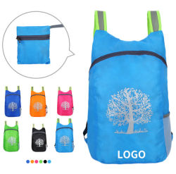 Wholesale Fashion Shoulder Folding Backpack School Sports Skin Bag
