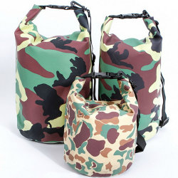 Water-Resistant Floating Camouflage Dry Bag for Rafting Diving Fishing Boating