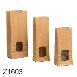 Z1612 Kraft Lower Price Recycled Custom Printed Black Kraft Gift Paper Bag, Paper Shopping Bag