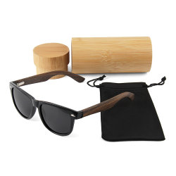 d20f37639e40 China Wooden Sunglass Cat. 3 UV400 Polarized Wooden Sunglasses Custom Logo  2019