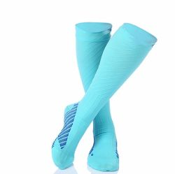 c90996d6b9 Hot Sell Large Elasticity Knitted Sport Compression Socks with Custom Logo