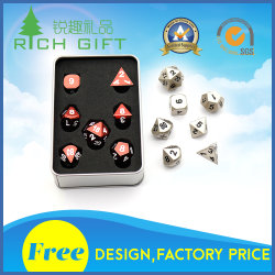 Manufacturers Wholesale Custom Metal Polyhedral Casino Dice Set/Bulk/Plastic/Laser Engraved/D20/12/10/8 Sided/Giant/Sex/Rpg/Loaded/Poker Dice for Adult Games