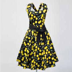Wholesale Girls Halter MIDI Length Backless Swing Cocktail Dresses
