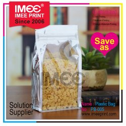 Custom Opaque Transparent Stand-up Pouch Zip-up Lock Oatmeal Tea Cafe Coffee Packaging