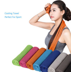 Personalized Print Microfiber out Door Fitness Sport Gym Towel Portable Magic Instant Hand Ice Cooling Towel Set Gift