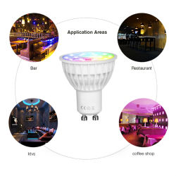2.4G Wireless LED Bulb Light RGB+CCT LED Spotlight LED Lamp
