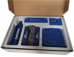 DHL Promotion Gifts Sweat Band Head Band Pedometer Jumping Rope Sports Gift Set