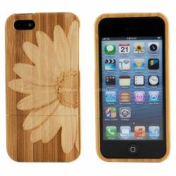 Haute qualité et de bambou en bois véritable étui pour iPhone 4 4s 5 5s 5c