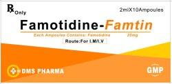 Medicina umana 20mg/2ml del Famotidine dell'agente dell'Anti-Ulcera