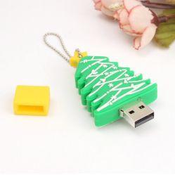 Populares 2020 Anos Árvore de Natal forma uma unidade Flash USB de 1 GB-64GB PVC personalizado USB para o Natal