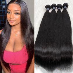 卸し売り安い毛の Weft の束は未加工バージンの人間に合った ヘアウィーブナチュラルブラジル人のヘアエクステンション