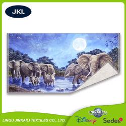 Produção profissional confortável promocionais baratas de algodão Natural Jacquard toalha de praia