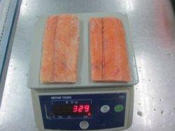 Porções de salmão