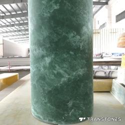 De doorzichtige Opgepoetste Kunstmatige Aangepaste Albasten Cilinder van het Onyx Blad