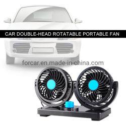 Gelijkstroom 12V/24V Ventilator van de KoelLucht van de Auto van de Aanpassing van 360 de Draaibare Krachtige ABS van de Graad Ventilators Dubbele Hoofd Auto