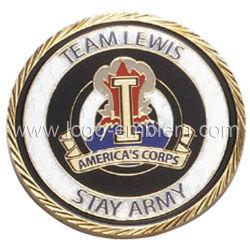 Medalla Evento deportivo personalizado chapado en latón antiguo Cordón Badge