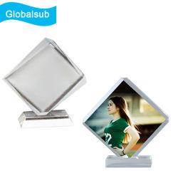 Spazio in bianco di cristallo di trasferimento di Sublimaton dell'ottaedro del blocco per grafici termico su ordinazione della foto