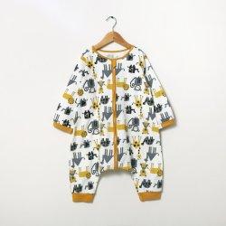 Novo design de roupas infantis recém-queda de Manga Longa Inverno Bebê Romper unissexo