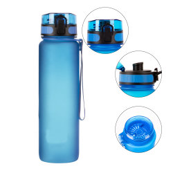 La nueva botella de agua de plástico mate Tritan Portable botella transparente el jugo de fruta Leak-Proof Viaje deporte al aire libre Camping botella