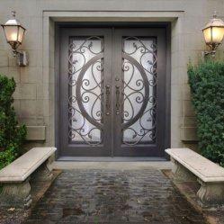 تصميمات الأبواب عالية الجودة من واجهة المنزل السكني Main Metal بوابة أبواب حديدية مشغولة