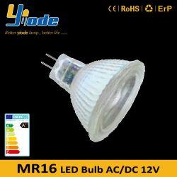 MR16 LED ライト 5W 調光可能 COB チップガラス LED スポットライト