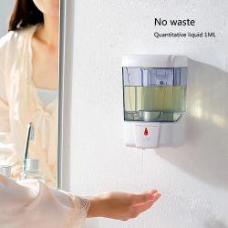 700ml Lotion pour le montage mural capteur automatique Appuyez sur la buse de mousse liquide de la pompe de pulvérisation Sanitizer Distributeur de savon pour Cuisine Salle de bains