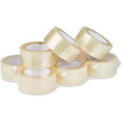 Nastro materiale di gomma impaccante dell'imballaggio BOPP del violoncello delle decorazioni di natale di sigillamento adesivo di carta appiccicoso della scatola