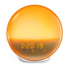 Despierta la noche LED Digital puesta de sol del amanecer natural lámpara despertador de la simulación de la decoloración de la luz de la noche de dormir.