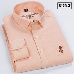 Мужские хлопок вымытой и Оксфорд Клетчатую полосатый модный вышитая футболка