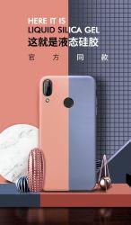 Étui en silicone liquide compatible avec les téléphones Xiaomi, Gel complet du corps en caoutchouc de protection de couvercle antichoc pour Samsung couvercle de boîtier de silicone liquide